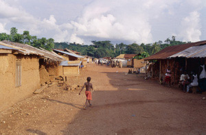 typical village in West Africa where Buruli Ulcer occurs