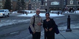 Stephen and Vijaya at Keystone Meeting