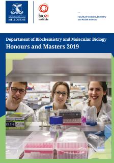 cover of 2018 biochem honours recruitment book