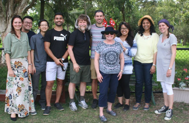 Group photo of some of the previous members of the Gleeson lab
