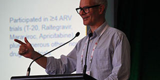 Stephen speaking at a conference
