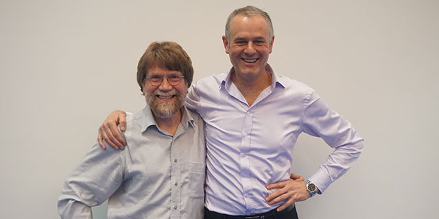 photo of Professor Paul Gleeson and Professor Ian van Driel