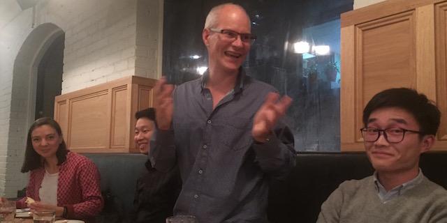 photo of Stephen at celebration dinner