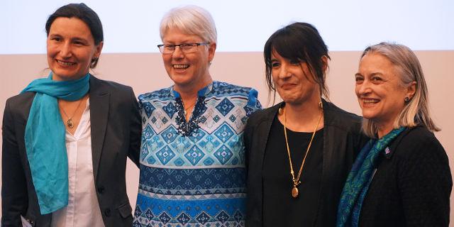 Photo of 2018 Georgina Sweet Award recipients and Leann Tilley