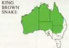 map showing distribution of mulga snake