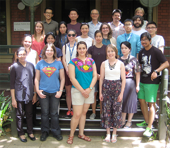 photo of Kent lab group on steps