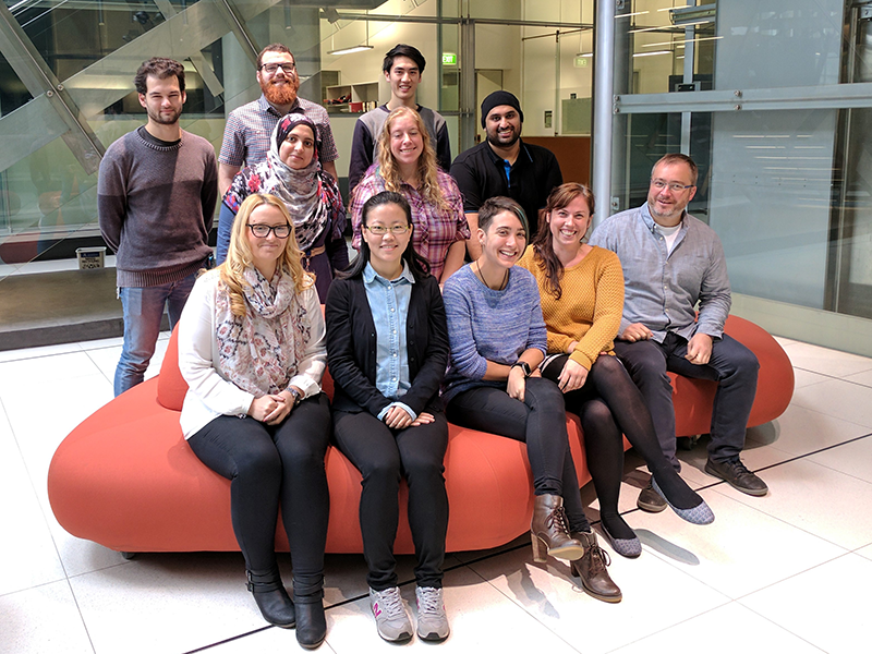 photo of Danny Hatters research group 2017