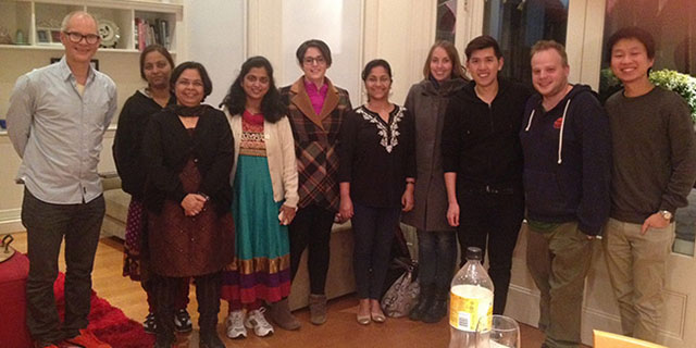 kent dinner with our Indian friends