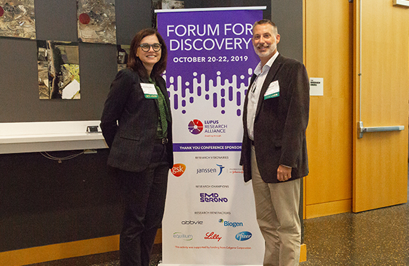 Professor Fabienne Mackay and Professor Jeffrey Rathmell at the Lupus Research Alliance Forum for Discovery