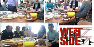 collage of pics from Level 7, west side, morning tea