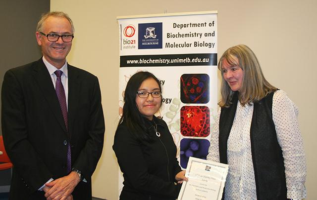 Kim Bui winner of the 2016 Irene Stanley Prize