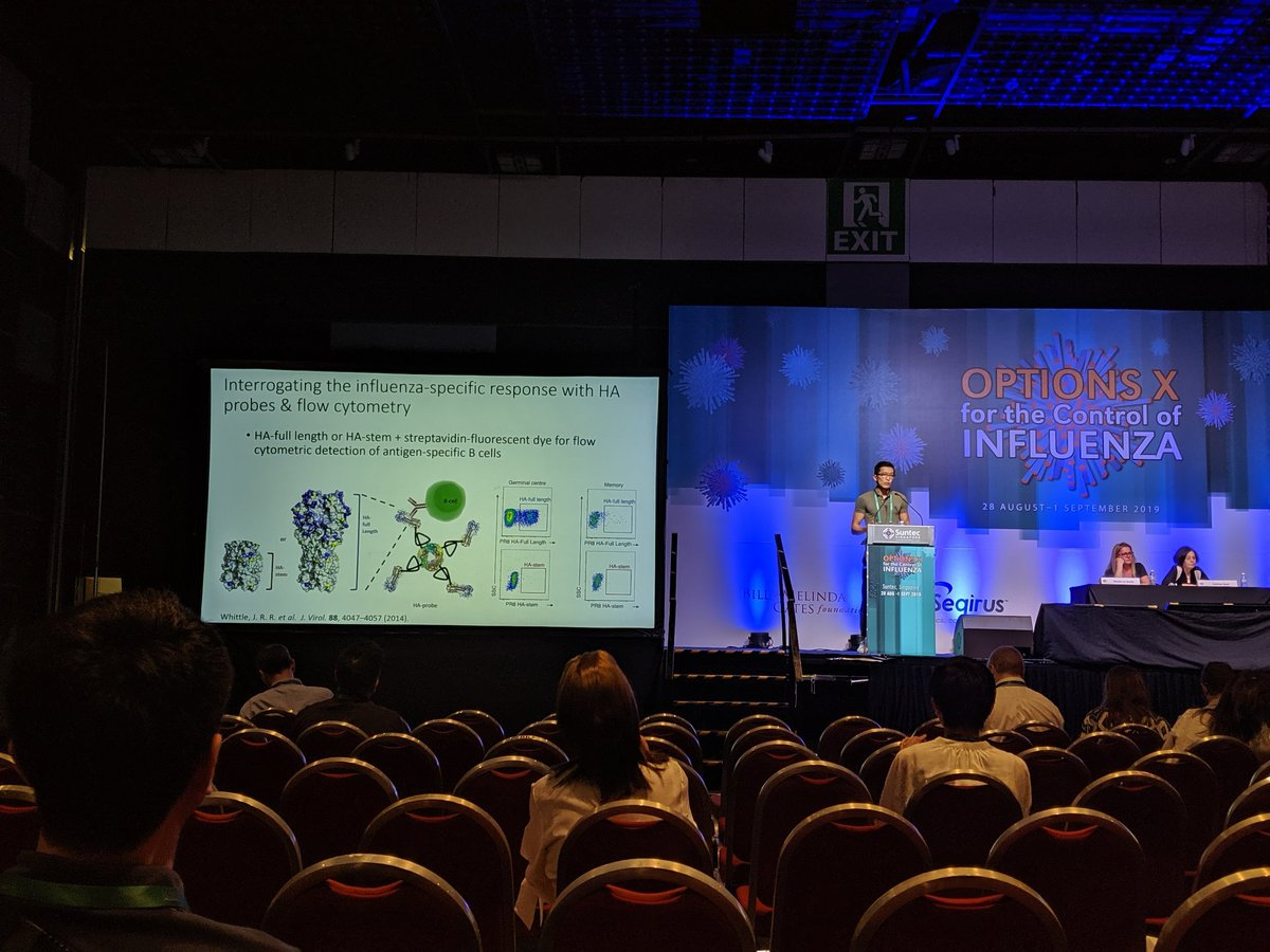 Hyon-Xhi giving a presentation at the Options Influenza conference in Singapore.