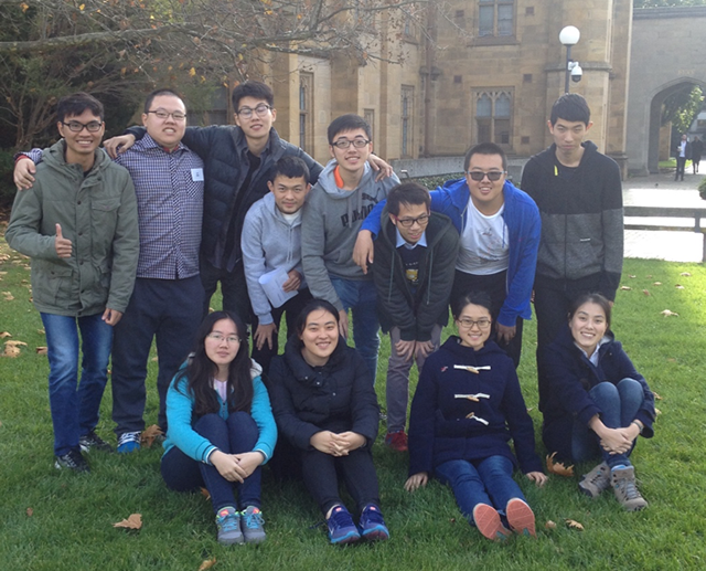 photo of Tsinghua students on South lawn