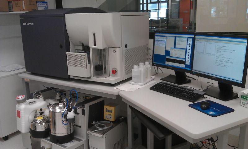 Image of the MBC FACS Aria III sorter