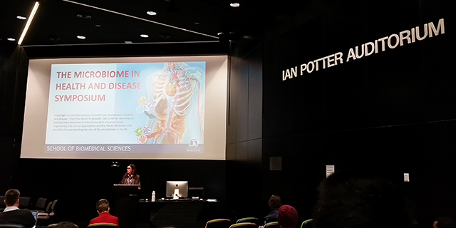 Professor Fabienne Mackay seen opening the Symposium