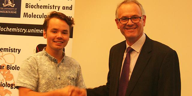 James McVicar seen with Professor Ian van Driel