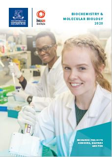 cover of 2018 biochem honours recruitment book